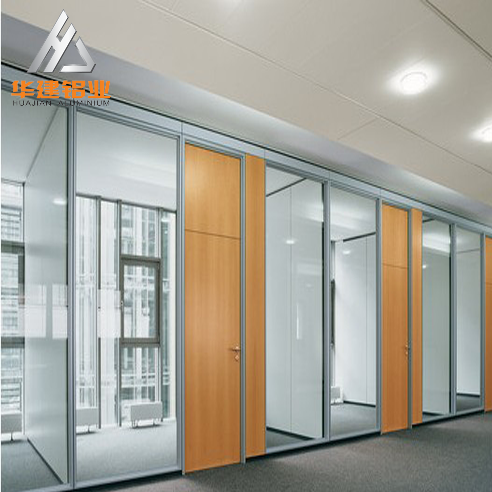 aluminum office partitions. Aluminum Frame And Shutter Glass Partition Wall / Clear Office - Buy Partition,Partition Wall,Aluminum Partitions