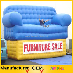 2015 High Quality Attrative Advertising used giant inflatable sofa for advertising