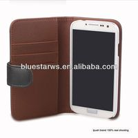 Direct factory price wallet holder leather case for samsung s4 9500 pu leather case for galaxy s4