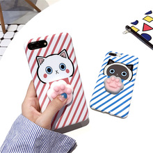 High Quality 3D Animals Stress Relieve Soft Mochi Squishy Cell Phone Case- Kneading Squishy Mobile Phone Case For Sex Girls