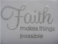 Faith Makes Things Possible Iron On Rhinestone Transfer