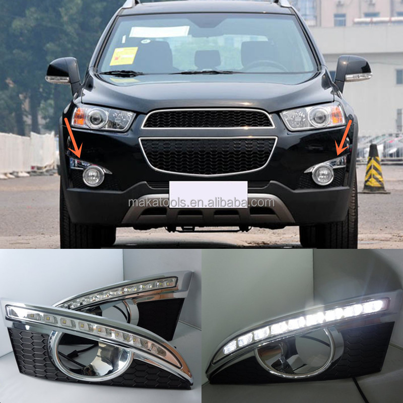 2pcs White DRL Driving Daytime Running Day Light For Chevrolet Captiva 2011-2014