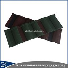 Black red roma stone coated metal roof tile