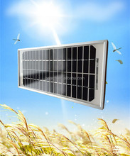 High efficiency small size single-crystalline 12v 5w solar panel