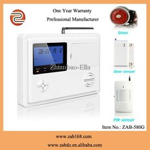 ZAB-580G,Latest 99 wireless Defence areas,High quality GSM&PSTN dual network office home alarm security system