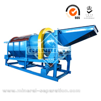 Placer gold washing plant trommel screen machine