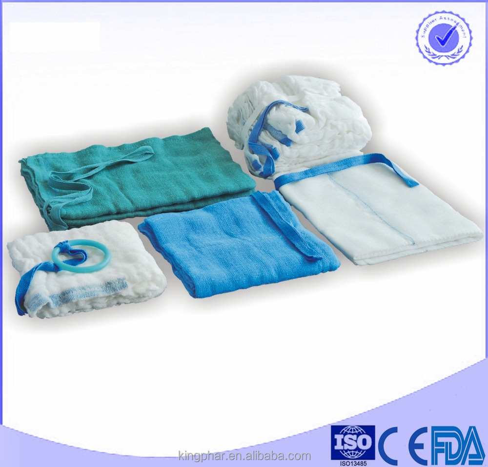 100% cotton medical absorbent X-RAY and blue loop surgical towel and Lap Sponge abdominal pad