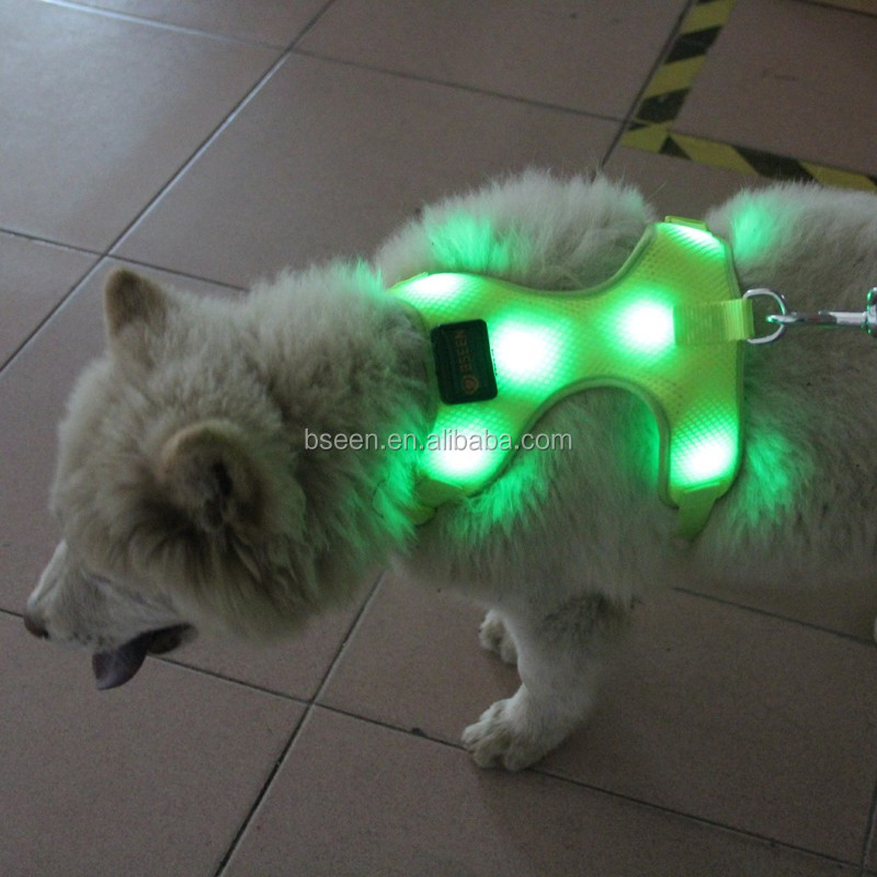 New product glowing in the dark dog harness for pitbulls