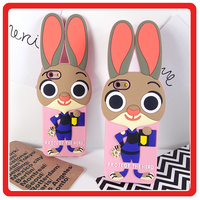 Lovely Cute ZOOTOPIA Rabbit and fox Animal soft Gel Silicon Shockproof Back Case Mobile Phone Accessories For iPhone 6 6s Plus