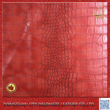 crocodile Pattern two tong pvc synthetic leather for sofa upholstery