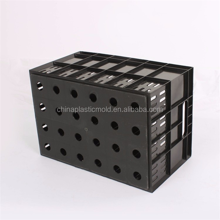 Juice bottle drink crate for glass bottle 24 bottle storage plastic soda crate