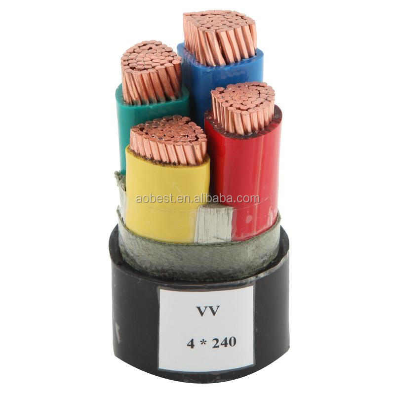 low/high voltage VV/VLV PVC insulated SWA armoured power cable supplier under IEC standard 1-5 CORES CALBE
