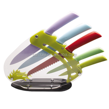 5pcs kitchen safety cutter knife with PP handle