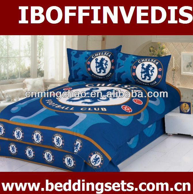 football fans cotton reactive printed bedding duvet cover set 3D