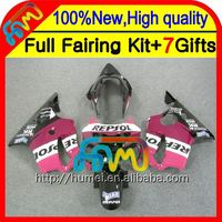 7gifts For HONDA CBR600F4 99-00 Fairings 21CL16 Repsol pink CBR 600F4 CBR600 F4 Rose black CBR 600 F4 99 00 1999 2000 Fairing