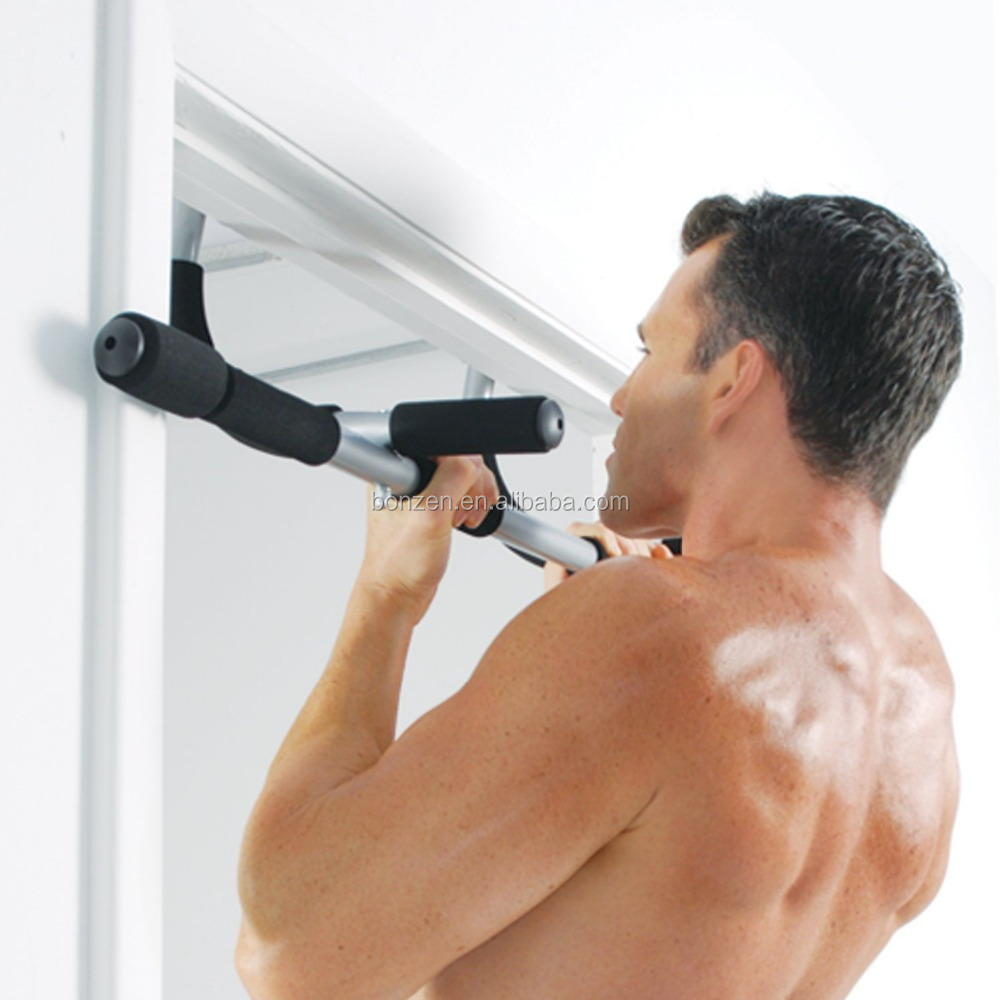 Pull Up Bar Doorway Door Mounted Workout Exercise Chin Push Up Portable Home Gym