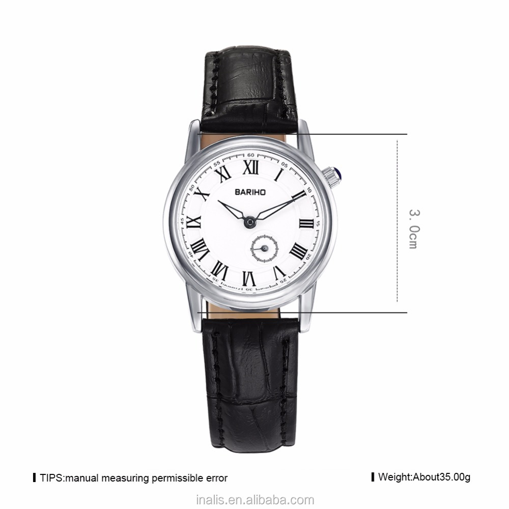 Popular cheap watch, black ladies fashion watches latest