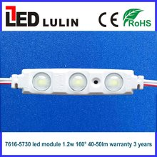 good quality 5730 smd 12volt led module 1.2w 160 degree with optical lens warranty 3 years for channel letters