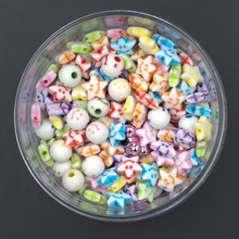 kids craft ,Acrylic craft beads , acrylic DIY bead smile beads