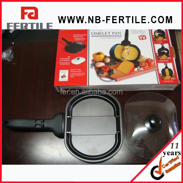 WJL TV001278 high quality Carbon steel OMELET PAN/ large fried egg pot