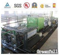 packed water treatment equipment, reverse osmosis system, desalination plant with carbon steel filter tank