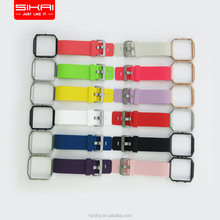 SIKAICASE Silicone Watch Band Stainless Steel Shell For Fitbit Blaze Tracker Cover Strap Combination Wholesale