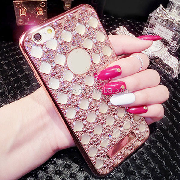 Agate stones diamond electroplating tpu phone case for iphone 5 5s 5g