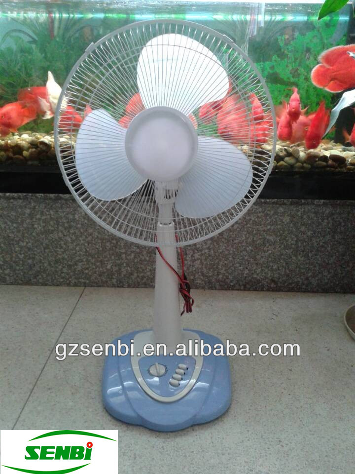 16 inch solar operated rechargeable 12 volt dc fans