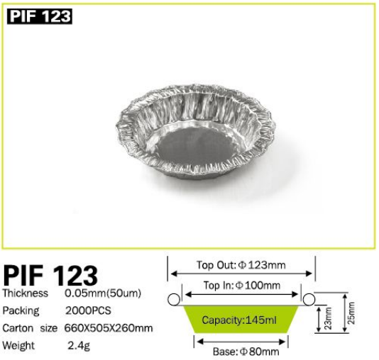 Disposable Pollution-free Round Foil dishes Tiny aluminum plate