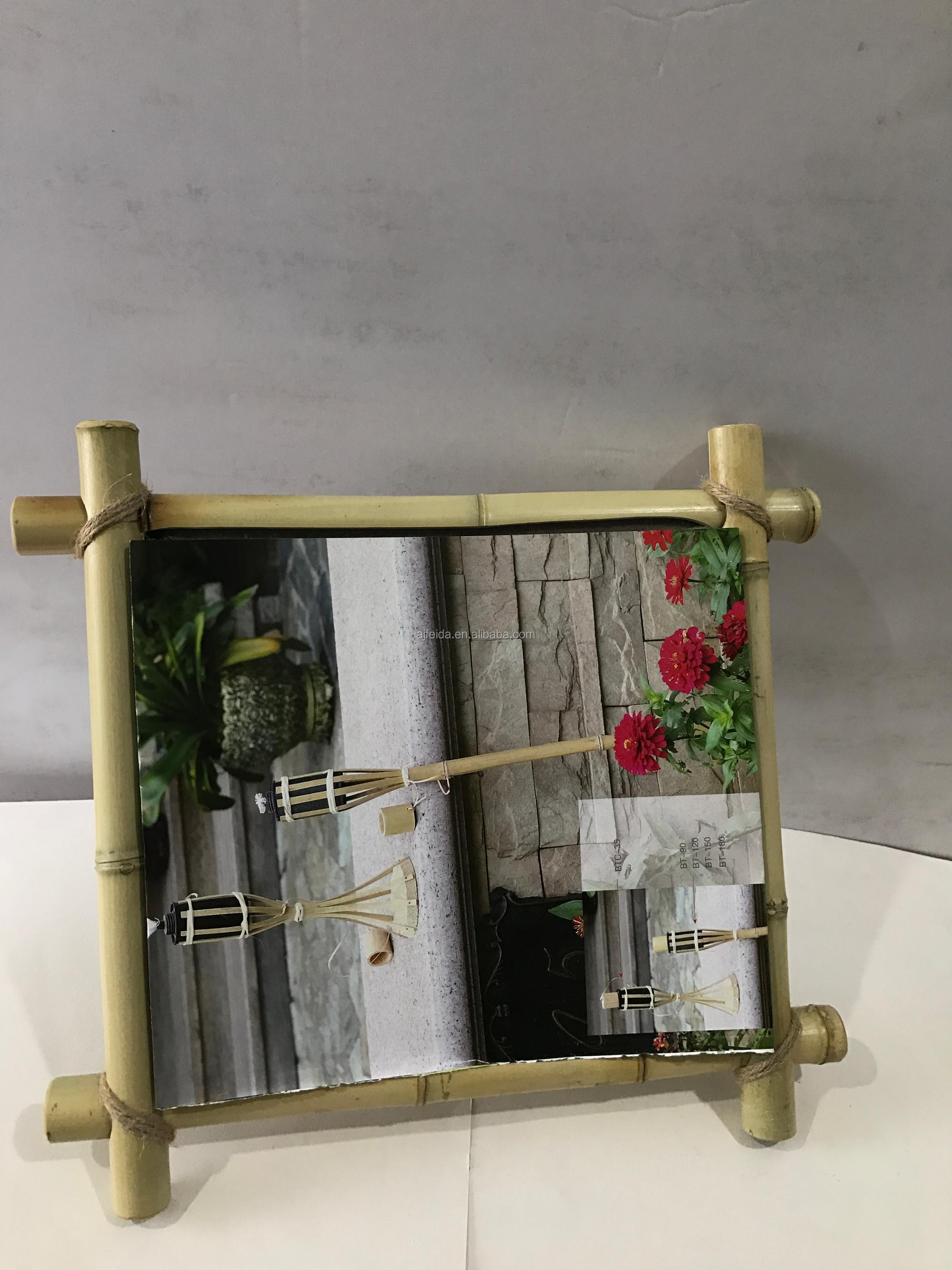 6x4 Eco Friendly Reclaimed Double Bamboo Photo Frame.