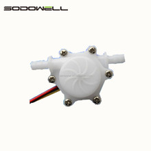 Sodowell plastic brass water flow rate sensor for coffee machine