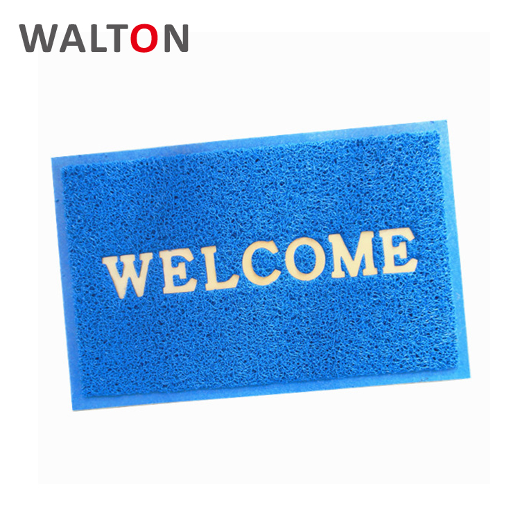 Customized durable pvc coil grey welcome door mat