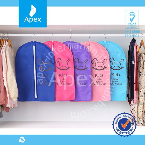 Clear Printing Suit Cover Non woven Garment Bag