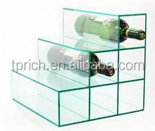 Best selling China factory directly wine glass display box/wine bottle display case