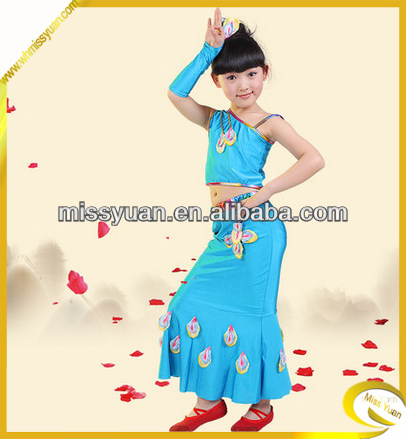 Wholesale Stage Performance peacock dance costume