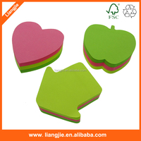 Fancy Heart shaped sticky notes, Die-cut sticky notes, Heart sticky notes.