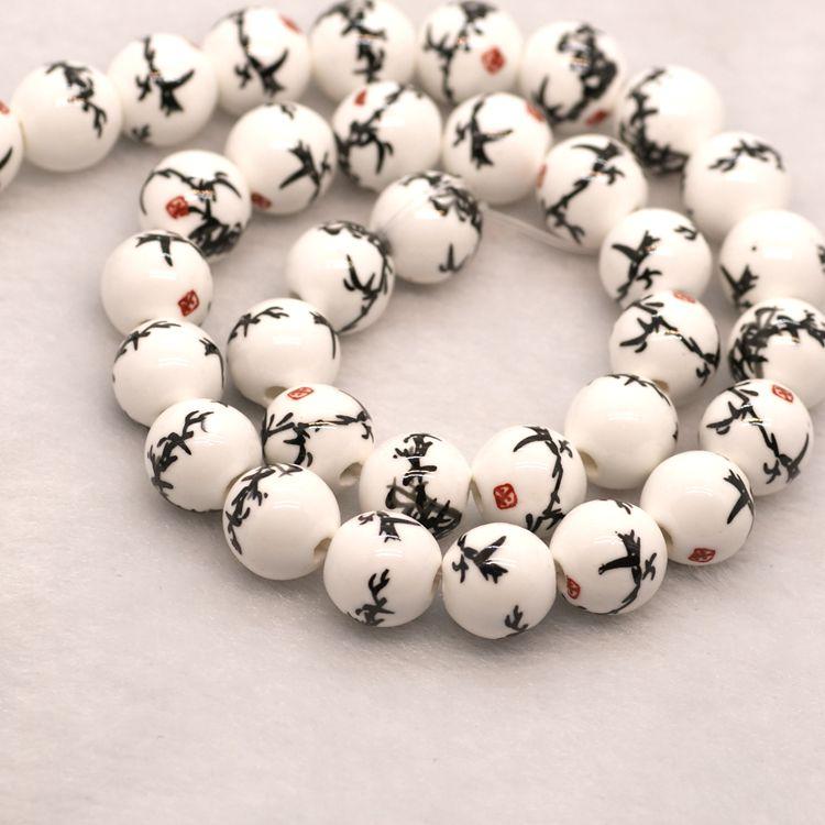 Unique ceramics diy loose beads for jewelry making buy for Unique stones for jewelry making