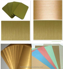 Alucobond Brushed Gold/ Silver Aluminium Composite Panel Foshan l Manufaturer