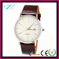 2014 IP plating mens watches normal living waterproof leather strap large face hot selling