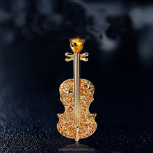 High quality fashion crystal violin shaped alloy brooches for women BRL0341