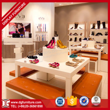 hot sale supermarket promotional advertising shoes display rack and bench shelf