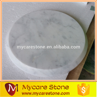 Cheap honed Chinese white marble tray
