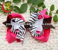 zebra printed fashion hair bows