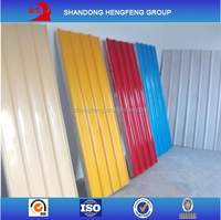 Color Galvalume Corrugated Sheet Metal Roofing Used