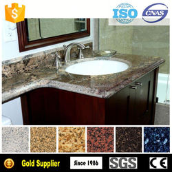 Trade Assurance Full Bullnose Edge chinese granite sunset gold countertop