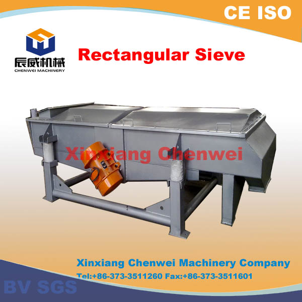 Horizontal linear vibro separator for sand and gravel separating with dual-motors and durable structure