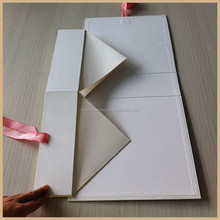 flat to save space and shipping cost box white color pink color,logo UV box summer dress package box