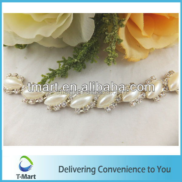 Aliabab China supplier sew on wedding trim crystal beaded chains