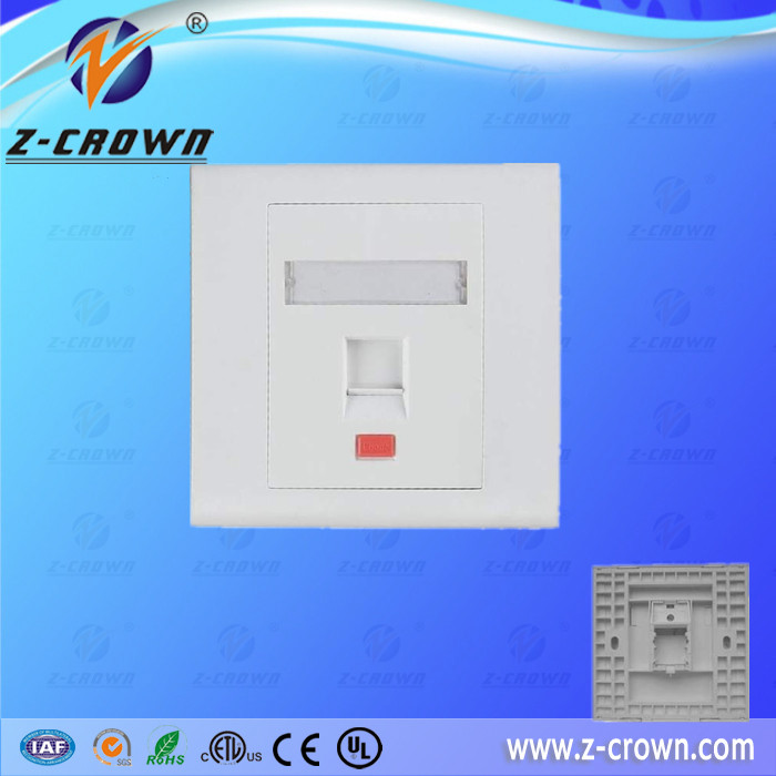 UK 1 Port Faceplate for rj45 face plate with CE/ISO