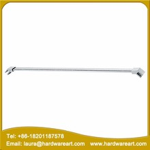 Frameless shower support bar glass to wall shower support bar